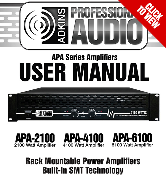 APA-2100 - APA-4100 -APA-6100 User Manual