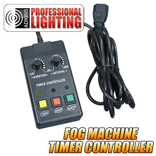 adkins pro lighting fog machine timer remote