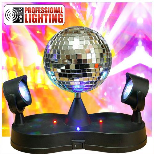 adkins pro lighting led revolving mirror ball