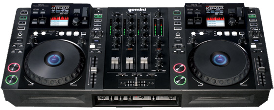 gemini cdmp 7000 complete dj system workstation package. Black Bedroom Furniture Sets. Home Design Ideas