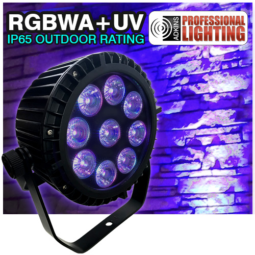 Color Spot Outdoor IP65 LED Up Light 9X18Watt RGBAW+UV