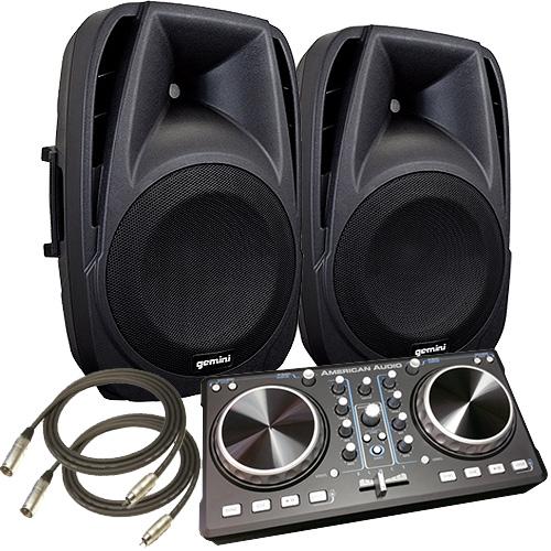 1200 watt american dj starter computer dj system with virtual dj software. Black Bedroom Furniture Sets. Home Design Ideas
