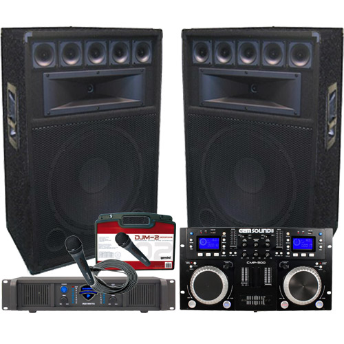 complete dj system everything you need at an awesome price. Black Bedroom Furniture Sets. Home Design Ideas