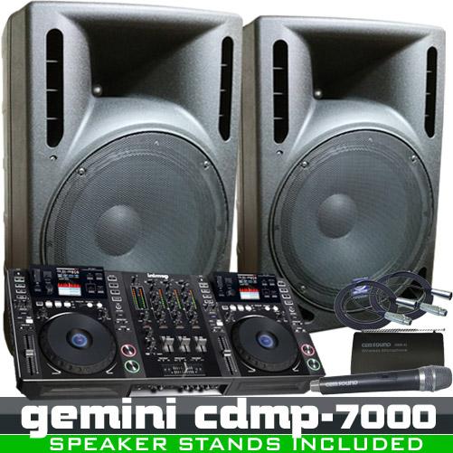 Gemini Cdmp 7000 Complete Dj System Workstation Package
