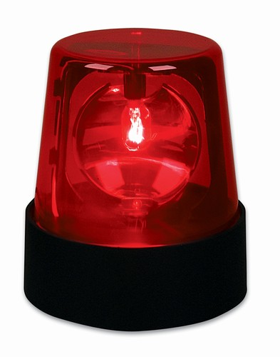 7 Red Police Beacon Light EL-POLRE - Low Priced Novelty u0026 Party Lights at Pro Sound Depot