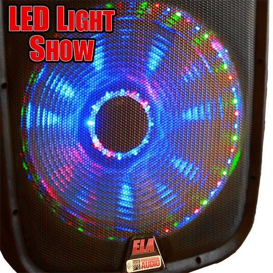Lighted Powered Dual 15 Quot Dj Speaker 800 Watts