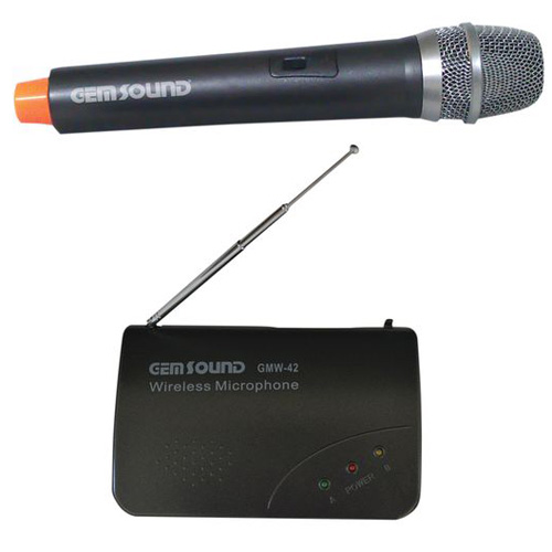 gem sound professional handheld wireless microphone. Black Bedroom Furniture Sets. Home Design Ideas