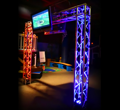 Mobile Dj Goal Post Truss System Goalposttruss Low