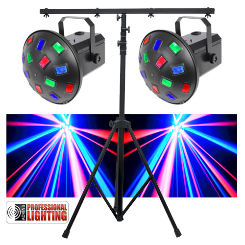 Led Dj Lighting Pack Dual Mushroom Lights Stand Great For The Mobile That Does Weddings Parties