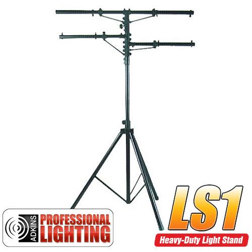 12' Heavy Duty Black Tri-Pod Stand w/2 Side Bars - Adkins Pro Lighting