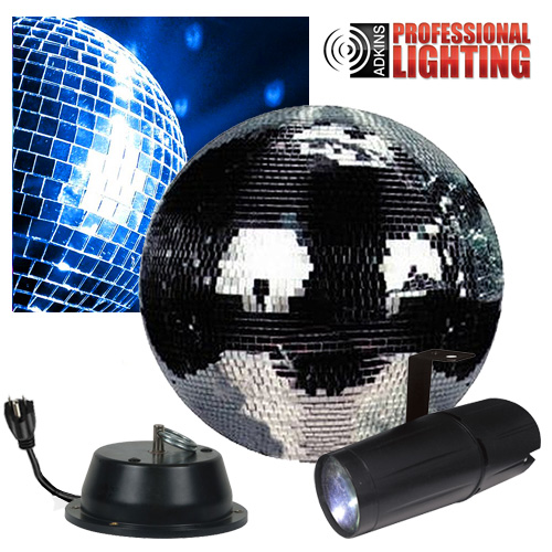 12 Quot Mirror Ball Party Kit Led Pinspot Mbkit 12 Low