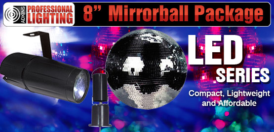 8 Quot Mirror Ball Party Kit Battery Powered Motor Mbkit 8b