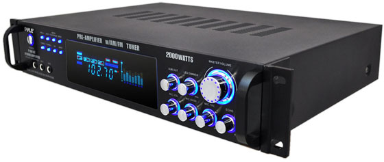 Pyle Pro 2000w Hybrid Pre Amplifier Am Fm Tuner Description