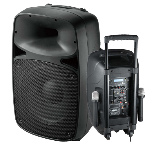 Portable Sound System W Wireless Mic Battery Powered