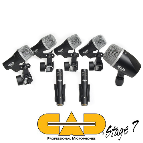 CAD STAGE7 Seven-piece Drum Mic Touring Pack
