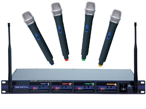vocopro uhf 5800 4 channel wireless microphone system uhf 5800 3 low priced wireless. Black Bedroom Furniture Sets. Home Design Ideas