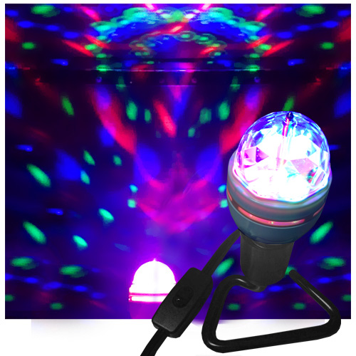 VEI Li'L Nebula LED Party Light Bulb With Base