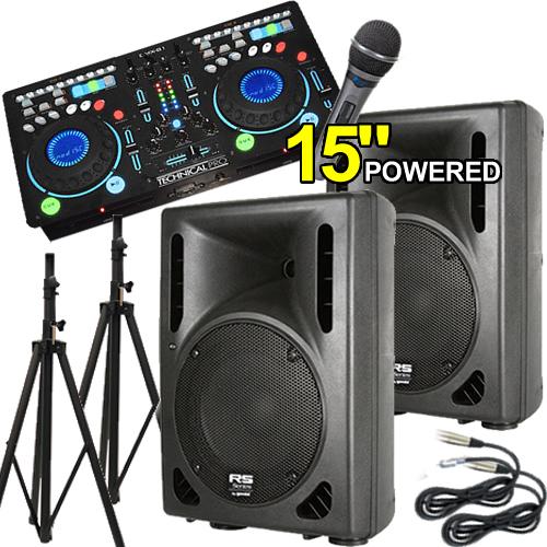 Djsys 32 Complete Powered Dj System 1200 Watts 15