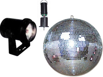 8 Battery Powered Mirror Ball Package Em 8 Combo Battery