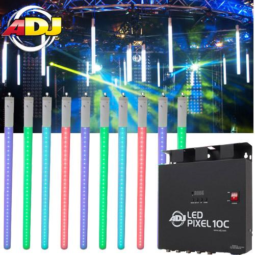 American Dj Led Pixel Tube 360 System 10