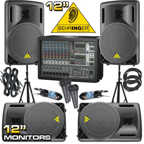 Complete Pa System 1200 Watts Everything You Need