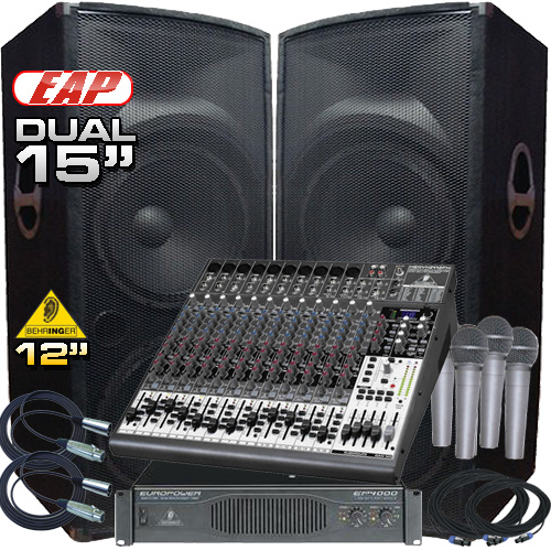Complete Pa System 4000 Watts Everything You Need