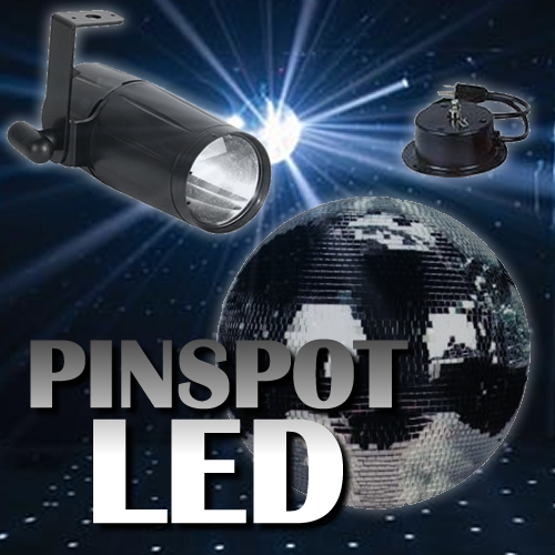 Pinspot Led 20 Quot Mirror Ball Package