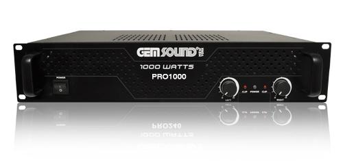 gemsound pro1000 1000 watt professional power amplifier. Black Bedroom Furniture Sets. Home Design Ideas