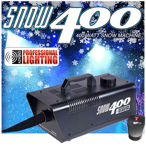 adkins pro lighting 400 watt snow machine