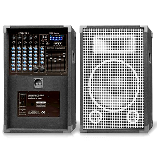 Technical Pro Powered Speaker Set Amp Mixer System