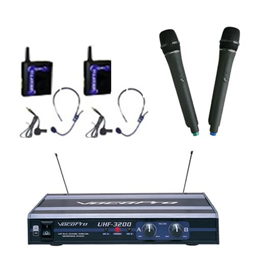 Dual Channel Wireless Mic Vocopro Uhf 3200 Pak