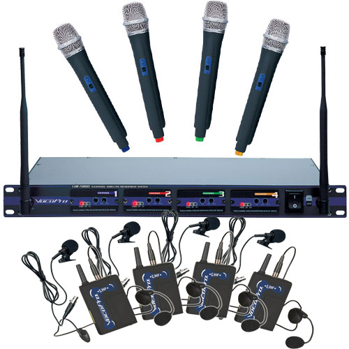 Vocopro Uhf 5800 4 Channel Wireless Microphone System