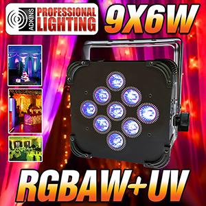 led up light 16 hour led battery powered wireless dmx 9x6w rgbaw