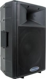 american audio dls 15p powered speaker dls 15p low priced speakers at pro sound depot. Black Bedroom Furniture Sets. Home Design Ideas