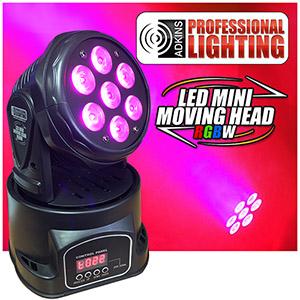 Adkins Pro Lighting LED Mini Moving Head RGBW