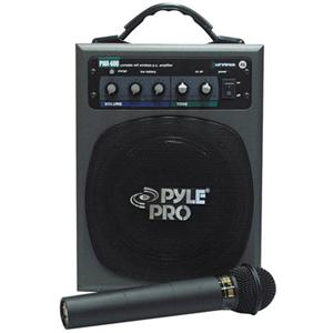 battery powered portable pa system with wireless mic pwma600 low priced pa system packages at. Black Bedroom Furniture Sets. Home Design Ideas