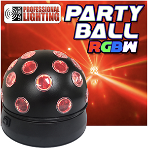 Party Ball RGBW Rotating Quad LED Disco ball Effect