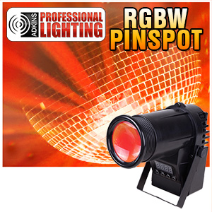 LED Quad Color Pinspot - 10 Watt RGBW - Adkins Professional Lighting