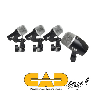 CAD STAGE4 Four-piece Drum Mic Touring Pack