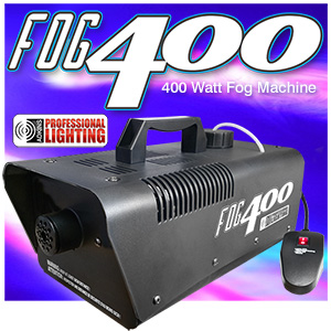 Heavy Duty 400 Watt Fog Machine W/Remote - Impressive 2,000 Cubic ft. per minute