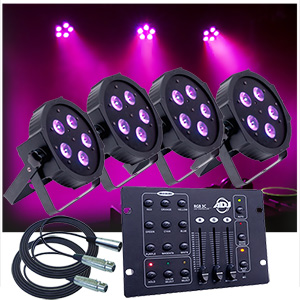 Up-Lighting System - 4 American DJ Up Lights w/Easy Controller