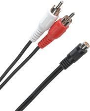 RCA  inchY inch Adaptor - 2 Male to 1 Female