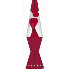 "LAVA Lamp 17"" 32oz - Red Wax / Clear Liquid"