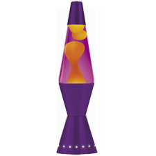 "LAVA Lamp 17"" 32oz - Yellow Wax / Purple Liquid"