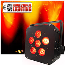 LED Battery Powered Wireless DMX 6x5w RGBAW Up Light