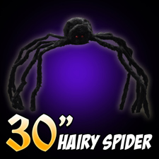 "30"" Hairy Spider - Black"