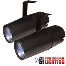 Adkins Professional Lighting LED Pinspot 3W - 2 Pack