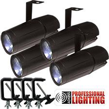 Adkins Professional Lighting LED Pinspot 3W - 4 Pack