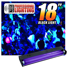 Adkins Pro Lighting 18in Black Light and Fixture