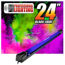 Adkins Pro Lighting 24in Black Light and Fixture